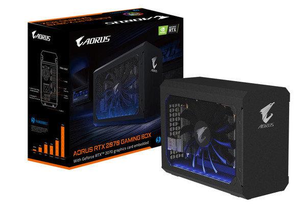 GIGABYTE представляет внешнюю графическую плату AORUS RTX 2070 Gaming Box
