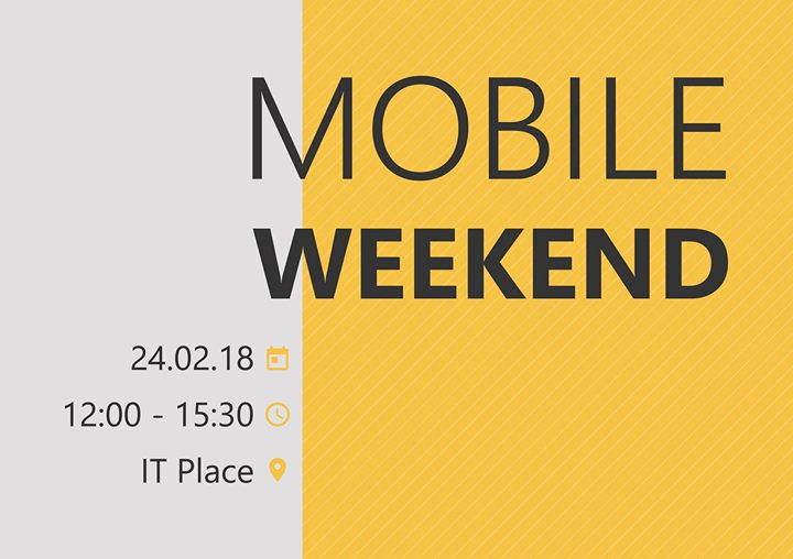 "MeetUp ""Mobile Weekend"""