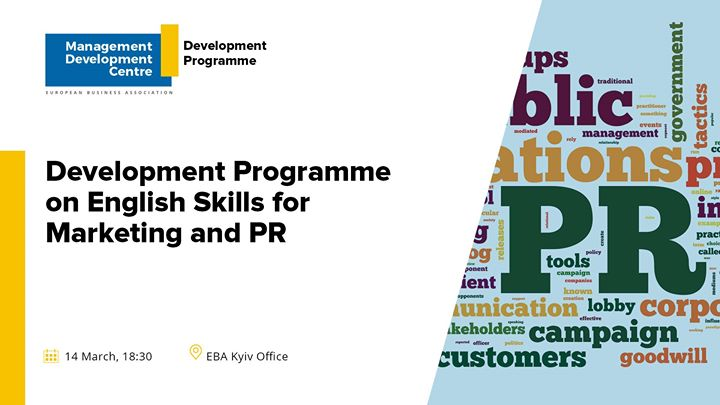 Development Programme on English Skills for Marketing and PR